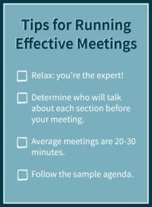 Tips for Meetings Graphic AB