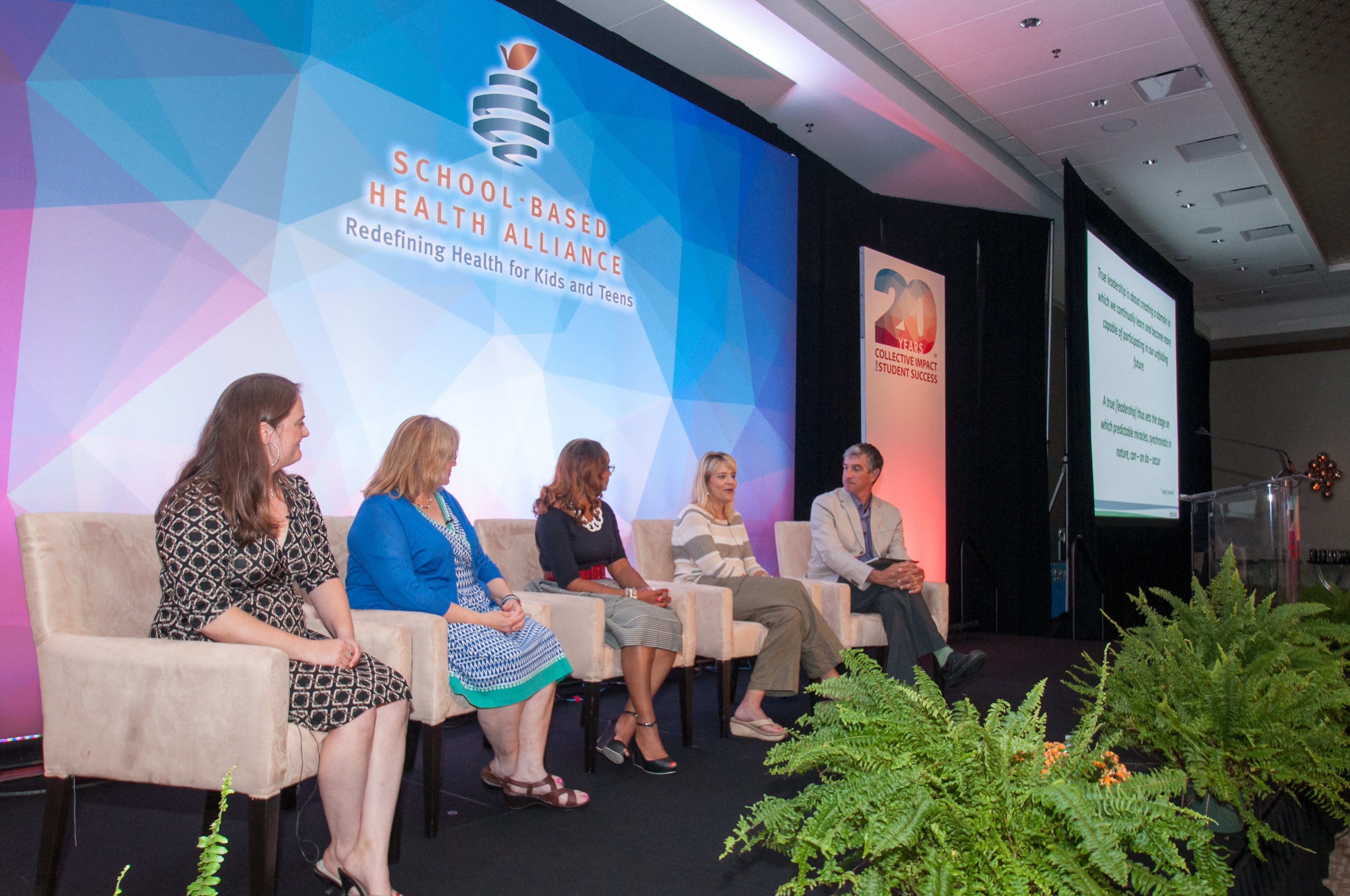 Leadership fellows at a panel presentation during the 2015 National School-Based Health Care Convention.